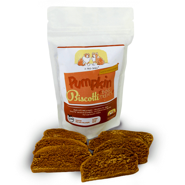 Pumpkin Biscotti Dog Snacks