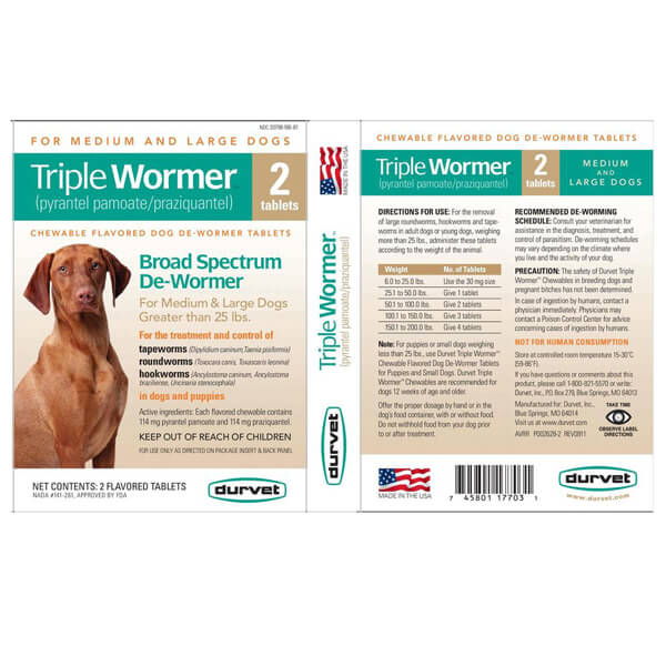Triple Dog Wormer
